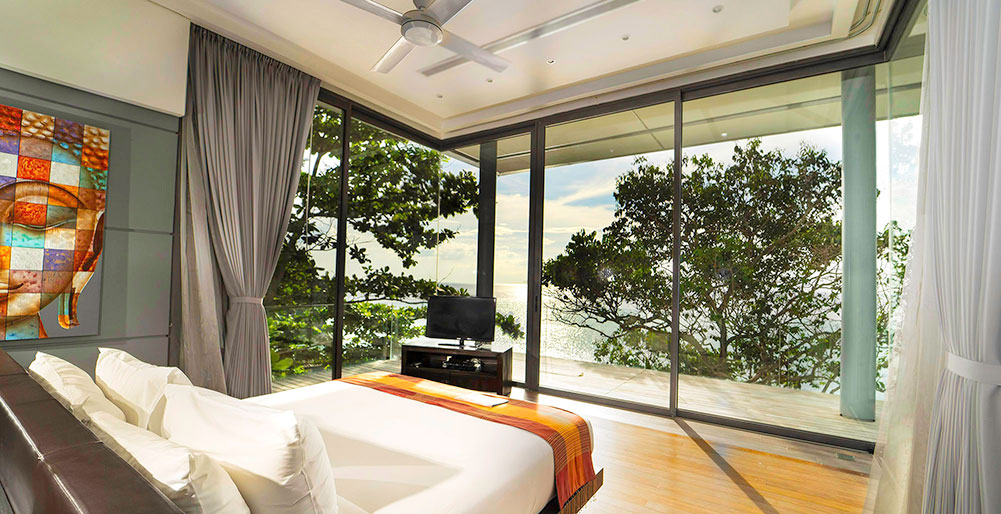 Villa Amanzi Kamala - Bedroom with exquisite view