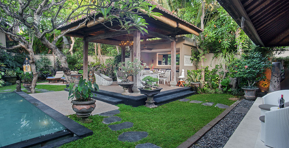 9. Villa Avalon Guest House - View across garden from guest suites