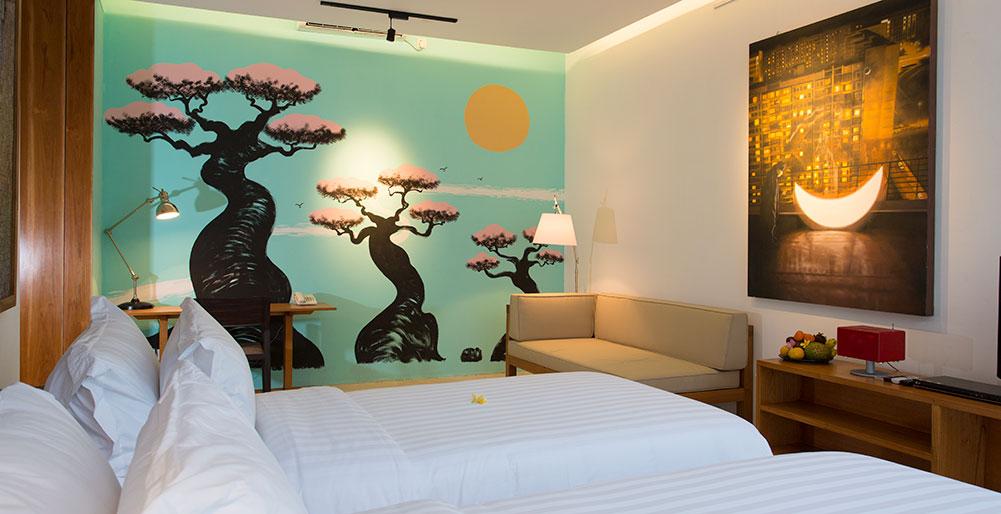 Villa Canggu - Villa South twin bedroom