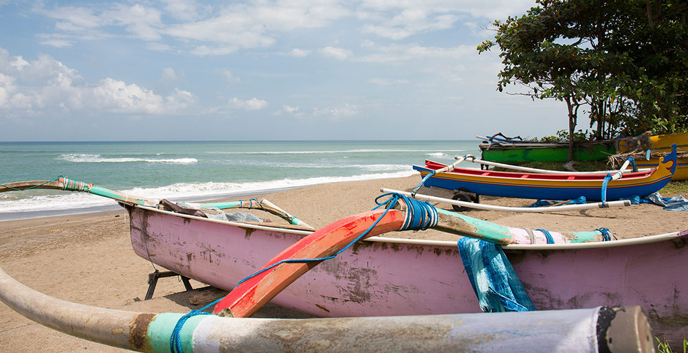 Villa Canggu - Local fishing boats