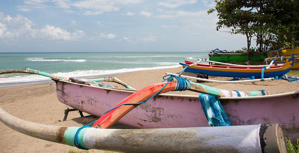 Villa Canggu - Local fishing boats