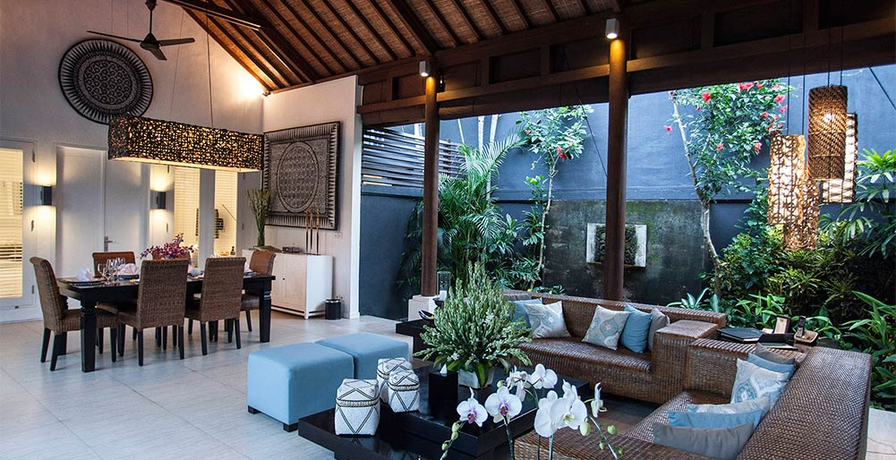 Lakshmi Villas - Ubud - Semi outdoor living and dining area