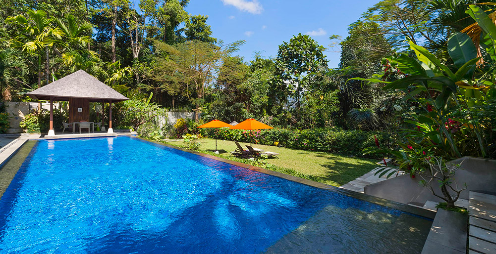 Villa Shinta Dewi Ubud - At the pool edge