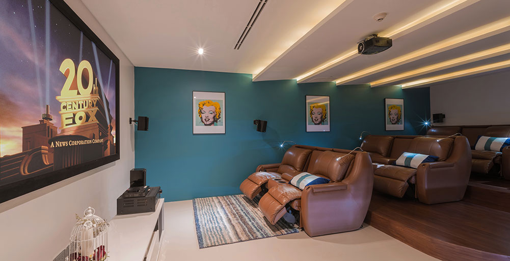 Villa Saan - Movie room