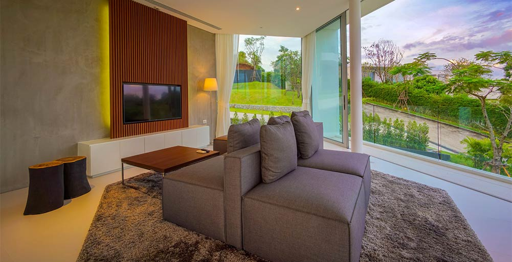 Villa Abiente - TV room stunning outlook
