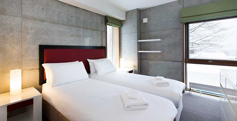 Kita Kitsune Chalet - Guest bedroom setting
