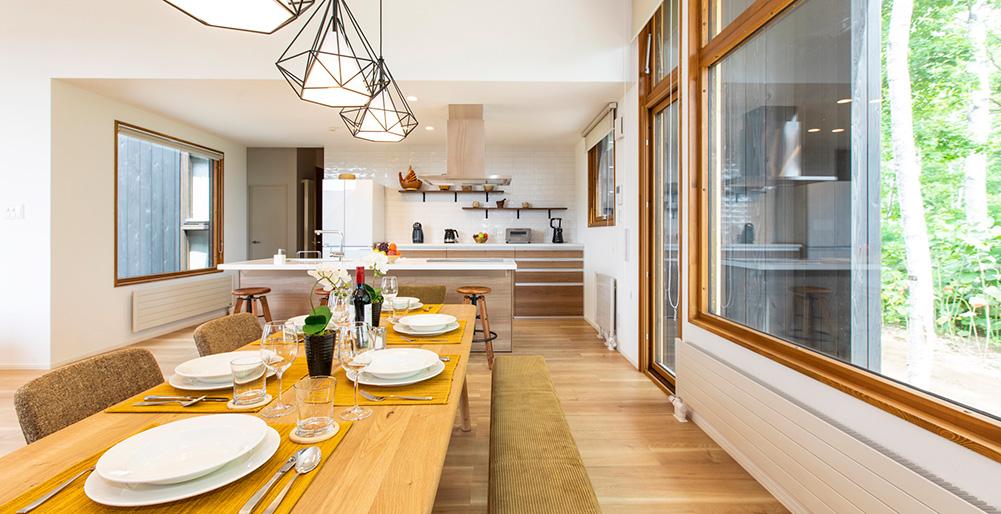 Birchwood Kitchen And Dining Area Design Niseko Village Villa Images Elite Havens