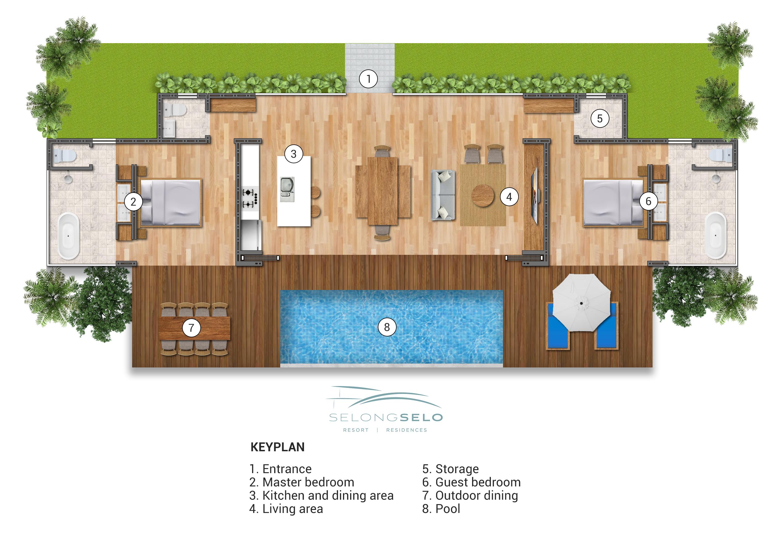 Selong Selo Resort Residences Two Bedroom Villa Selong Belanak Lombok Indonesia Elite Havens