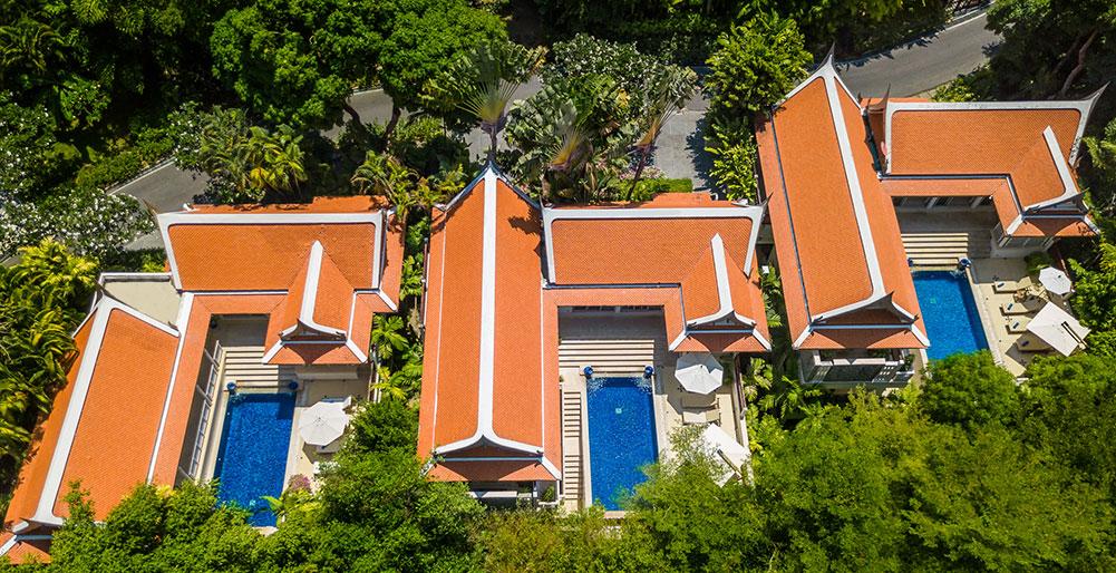 Katamanda Villas - Aerial shot