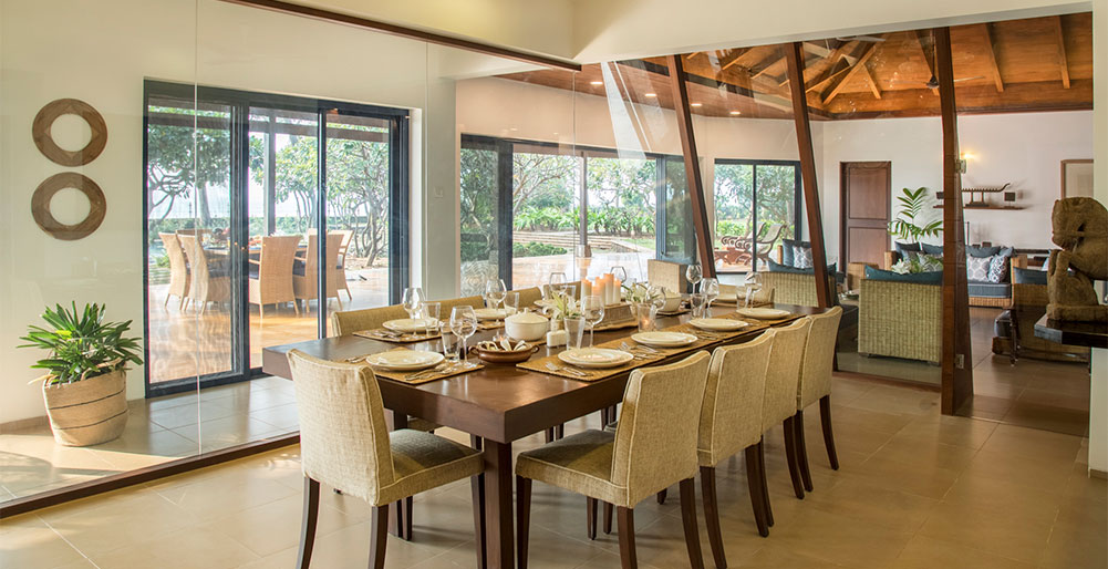Villa Beira Mar - Indoor dining area design