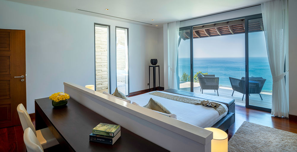 Villa Chan Paa - Master bedroom with breathtaking view