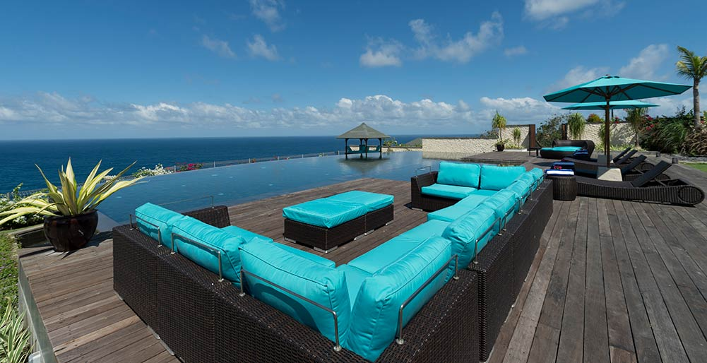 Pandawa Cliff Estate - The Pala - Poolside sea view