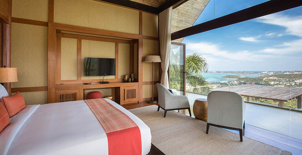 Praana Residence at Panacea Retreat - Bedroom one with gorgeous view