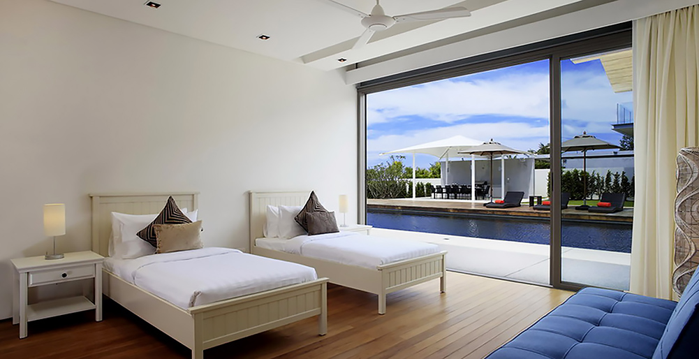 Villa Cielo - Twin bedroom outlook