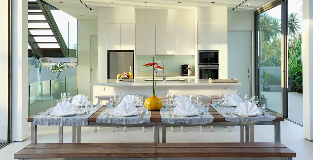 Villa Aqua Kitchen Area Natai Beach Villa Images Elite Havens
