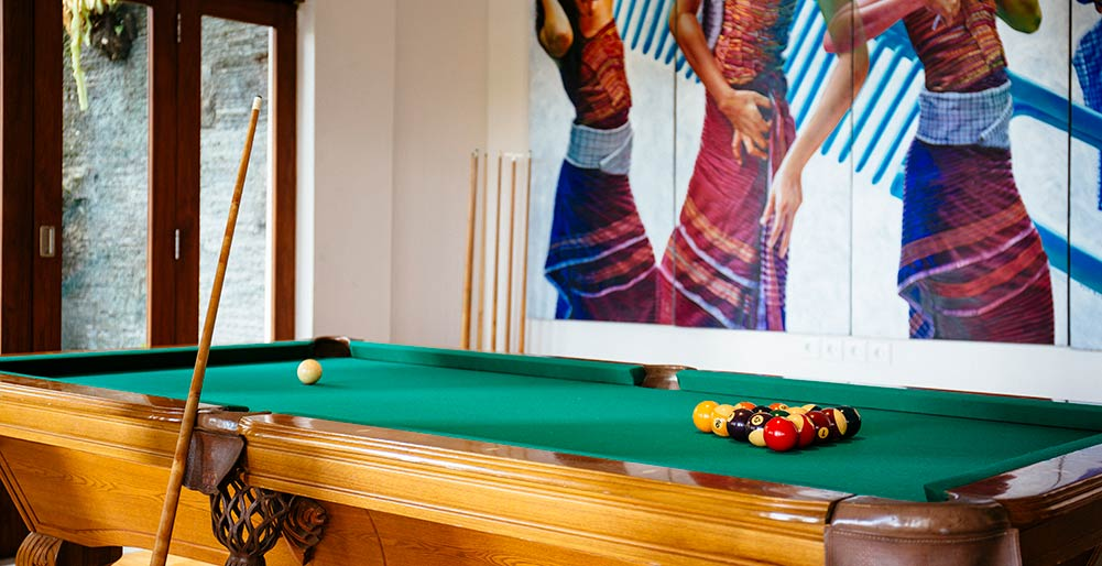 Villa Semarapura - Entertainment room with pool table