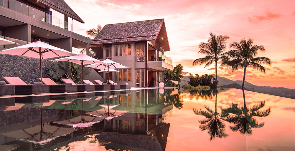 Villa Suralai - Beautiful sunset pool view
