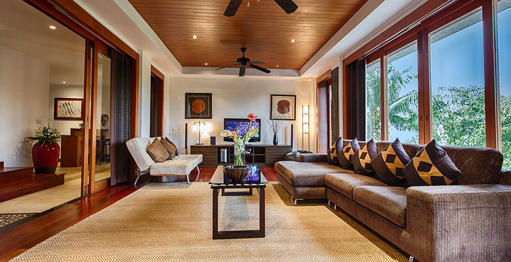 Baan Surin Sawan - Interior living room 2, Surin Villa Images ...