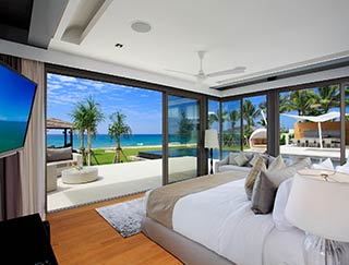 Villa Tievoli - Stunning downstairs master bedroom outlook ...